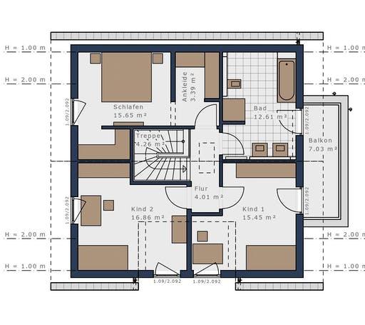 Schwabenhaus - Solitäire E-145 E2 Floorplan 2