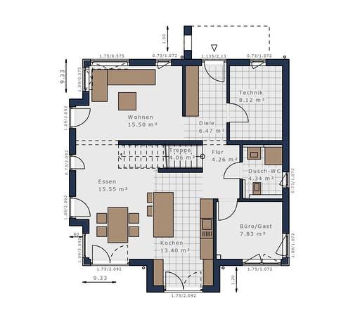 Schwabenhaus - Solitäire E-145 E5 Floorplan 1