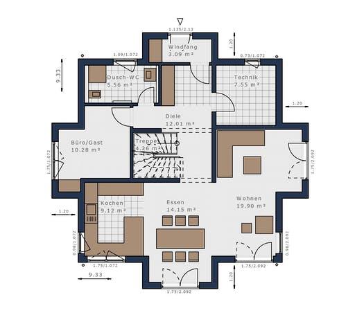 Schwabenhaus - Solitäire E-145 E7 Floorplan 1