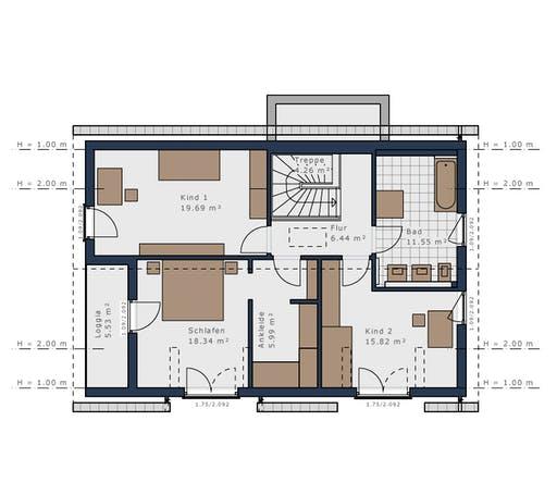 Schwabenhaus - Solitäire E-155 E1 Floorplan 2