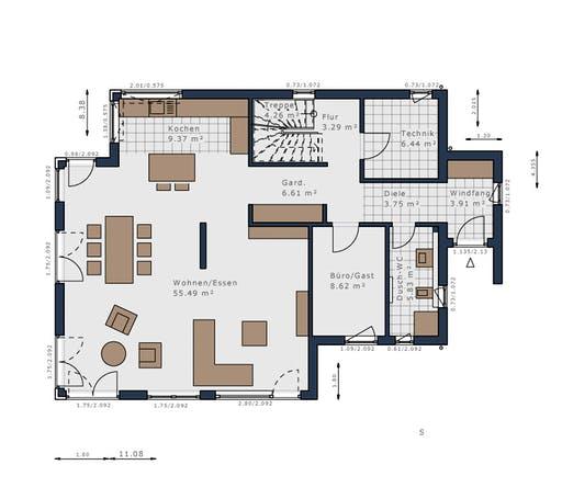 Schwabenhaus - Solitäire E-155 E4 Floorplan 1