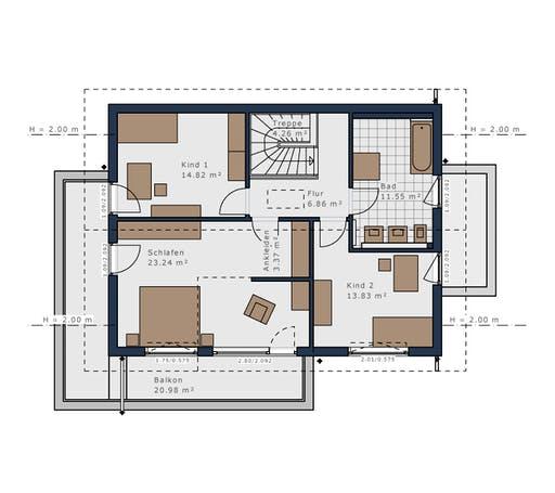 Schwabenhaus - Solitäire E-155 E4 Floorplan 2