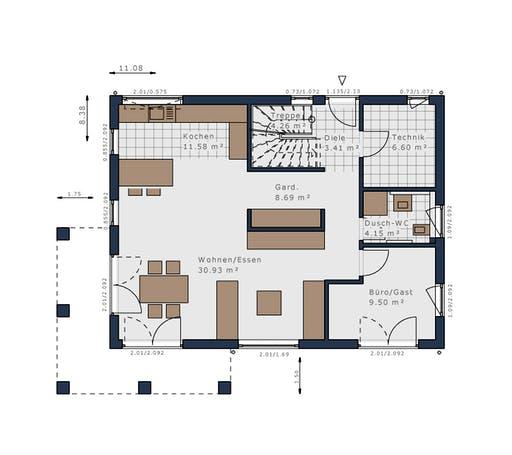 Schwabenhaus - Solitäire E-155 E7 Floorplan 1