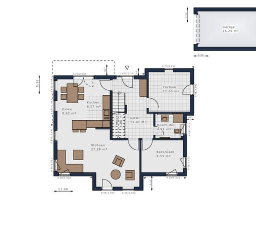 Schwabenhaus - Solitäire E-155 E9 Floorplan 1