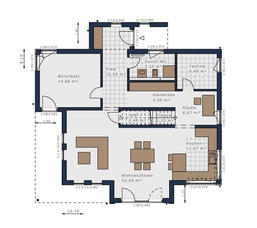 Schwabenhaus - Solitäire E-165 E3 Floorplan 1