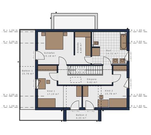 Schwabenhaus - Solitäire E-165 E3 Floorplan 2