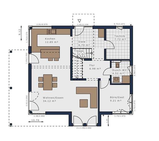 Schwabenhaus - Solitäire E-165 E4 Floorplan 1