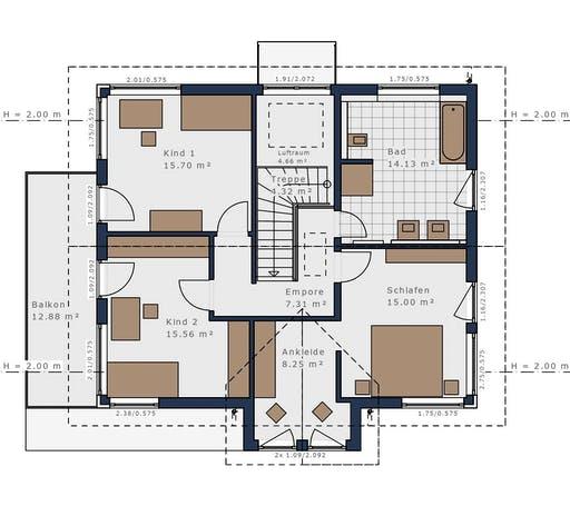 Schwabenhaus - Solitäire E-165 E4 Floorplan 2