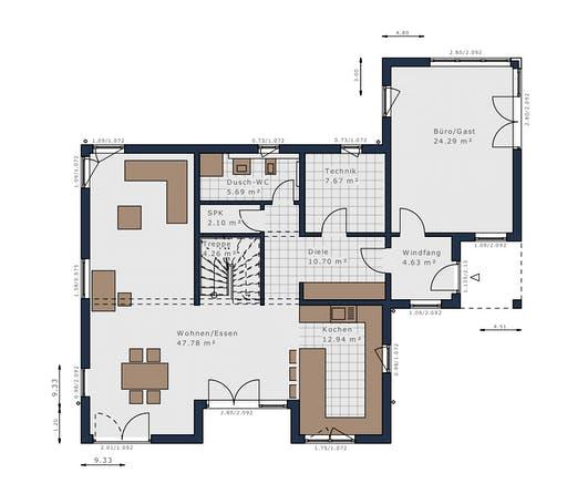 Schwabenhaus - Solitäire E-165 E7 Floorplan 1