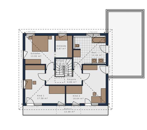 Schwabenhaus - Solitäire E-165 E7 Floorplan 2