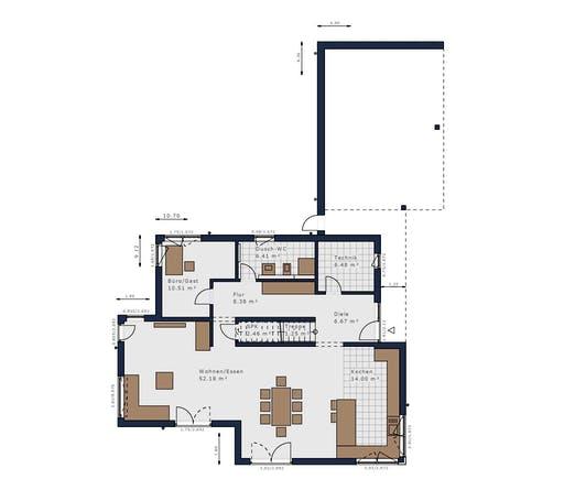 Schwabenhaus - Solitäire E-165 E9 Floorplan 1