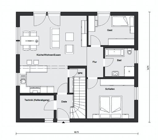 Schwörer - E10-087.5 Floorplan 1