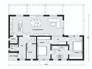 E 10-112.1 - Moderner Bungalow von SchwörerHaus Grundriss 1