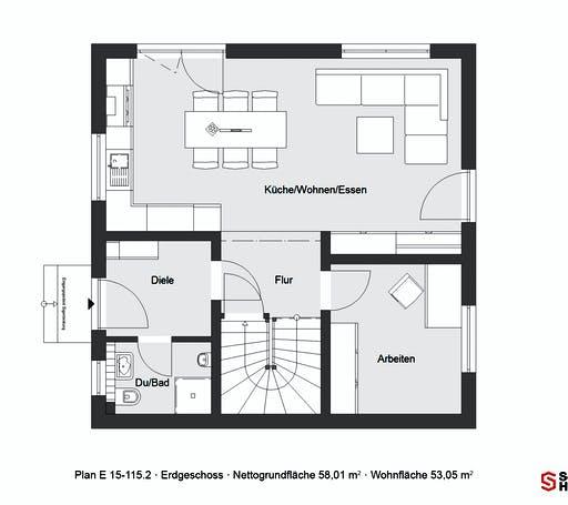 Schwörer - E 15-115.2 Floorplan 1