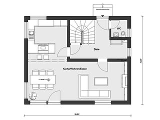 E 15-121.9 - Haus mit Satteldach von SchwörerHaus Grundriss 1