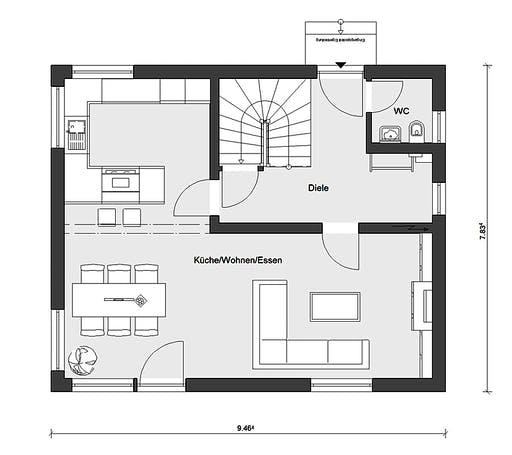 Schwörer - E15-121.9 Floorplan 1