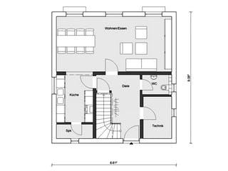 E 15-124.3 - Großzügiges Wohnen von SchwörerHaus Grundriss 1