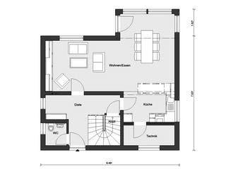 E 15-127.12 - Erker am Haus von SchwörerHaus Grundriss 1