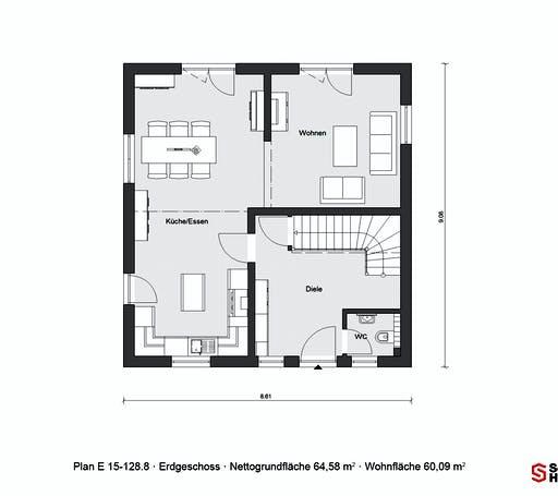 Schwörer - E15-128.8 Floorplan 1