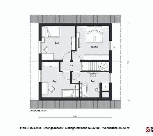Schwörer - E15-128.8 Floorplan 2