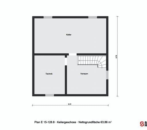 Schwörer - E15-128.8 Floorplan 3