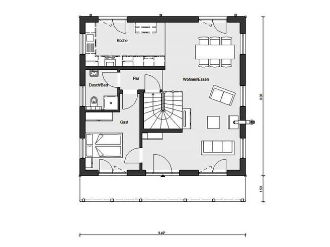 E 15-142.5 - Country-Haus von SchwörerHaus Grundriss 1