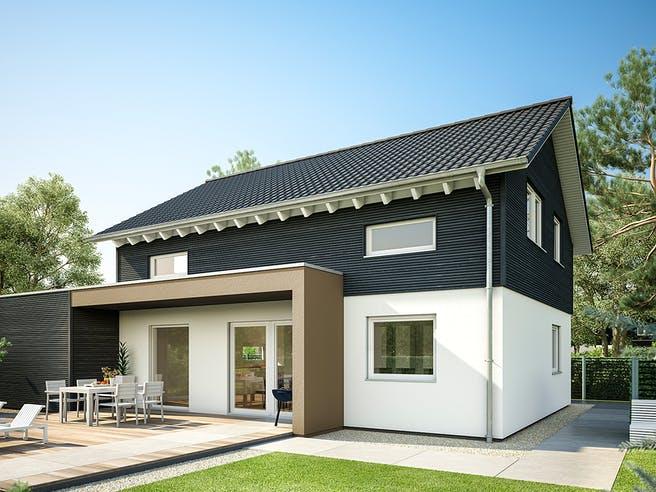 E 15-143.29 - Haus mit Vordach von SchwörerHaus Außenansicht 1