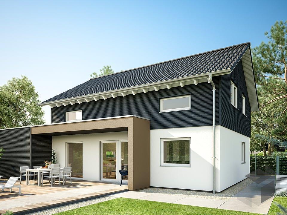 E 15-143.29 - Haus mit Vordach von SchwörerHaus - Österreich Außenansicht