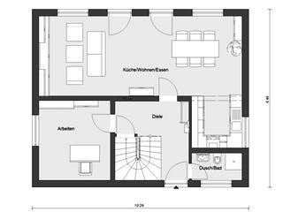 E 15-143.32 - Haus mit Flachdachgaube von SchwörerHaus Grundriss 1