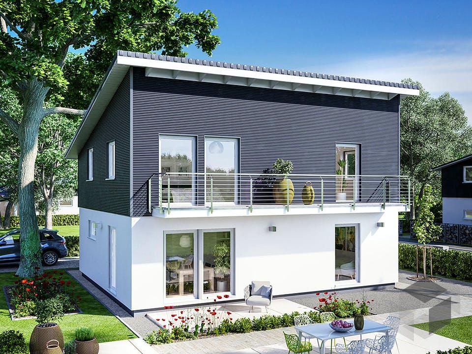 E 15-143.33 - Haus mit Pultdach von SchwörerHaus Außenansicht