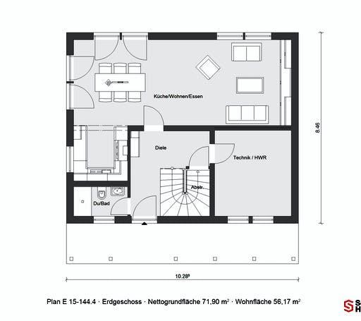 Schwörer - E15-144.4 Floorplan 1