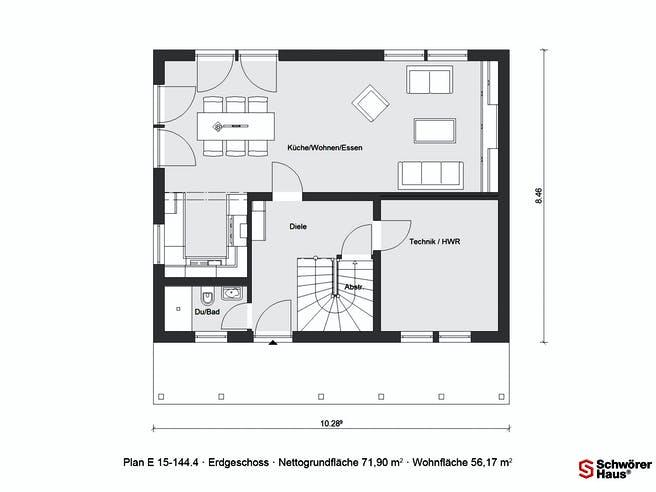 E 15-144.4 - Schwedenhaus von SchwörerHaus Grundriss 1