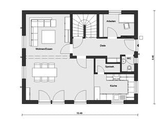 E 15-147.3 - Einfamilienhaus mit Terrasse von SchwörerHaus Grundriss 1