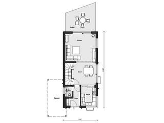 E 15-150.2 - Schmales Hauskonzept von SchwörerHaus Grundriss 1