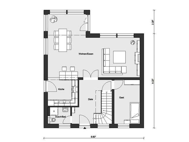 E 15-153.1 - Sonneninselhaus von SchwörerHaus Grundriss 1