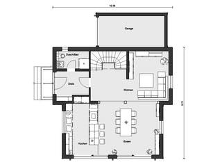 E 15-154.1 - Fertighaus mit Holz von SchwörerHaus Grundriss 1