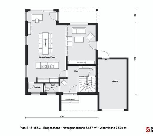 Schwörer - E15-158.3 Floorplan 1