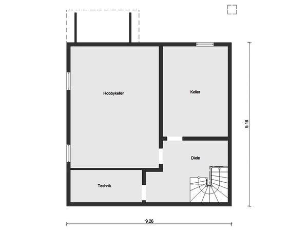 Einfamilienhaus Keller Grundriss