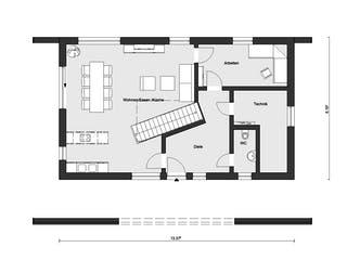 E 15-170.1 - Musterhaus Helmstorf von SchwörerHaus Grundriss 1