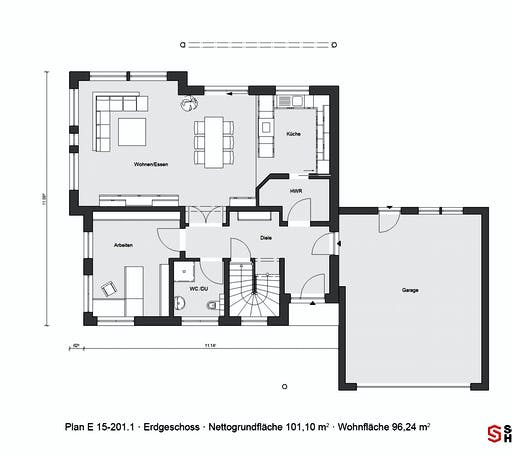Schwörer - E15-201.1 Floorplan 1