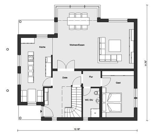 Schwörer - E15-205.1 Floorplan 1