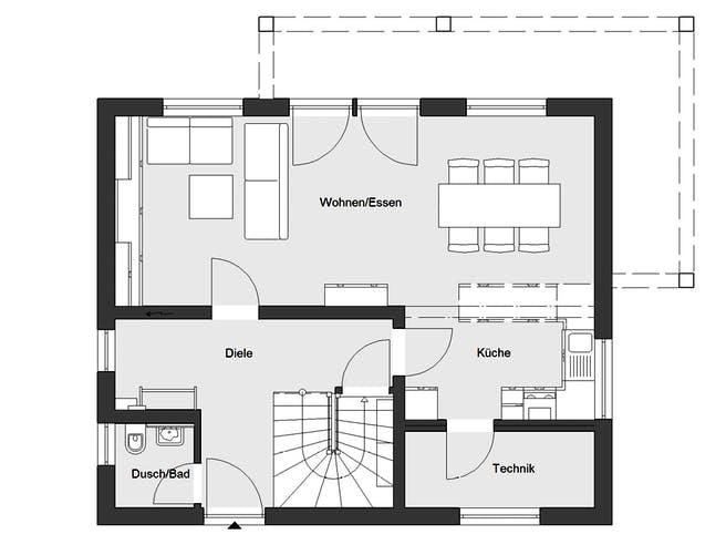 E 20-120.4 - Stadtvilla von SchwörerHaus Grundriss 1