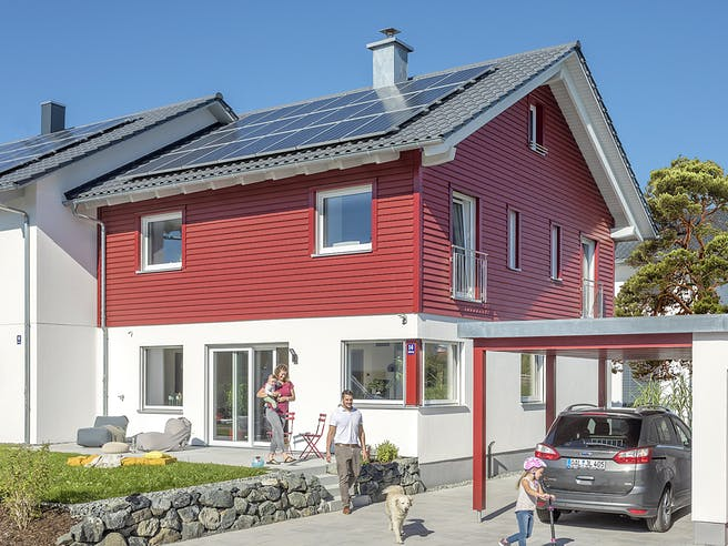 E 20-135.4 - Doppelhaus als Effizienzhaus 40 Plus von SchwörerHaus Außenansicht 1
