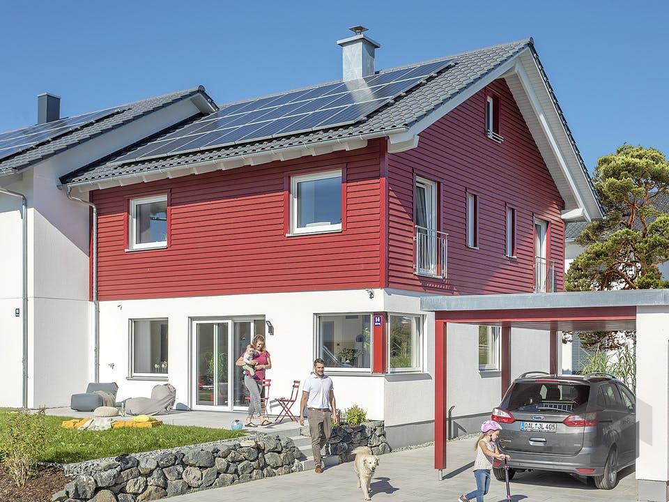 E 20-135.4 - Doppelhaus als Effizienzhaus 40 Plus von SchwörerHaus Außenansicht
