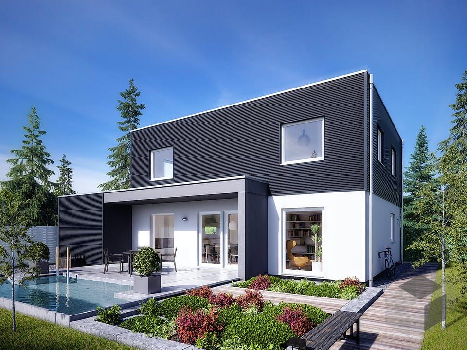 E 20-144.6 - Moderner Bauhausstil von SchwörerHaus Außenansicht