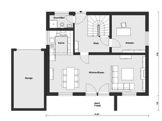 E 20-144.6 - Moderner Bauhausstil von SchwörerHaus Grundriss 1