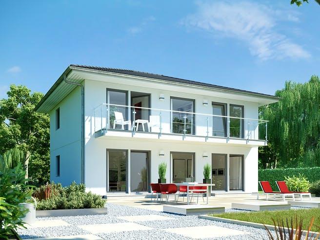 E 20-148.4 - Stadtvilla mit großem Balkon von SchwörerHaus Außenansicht 1