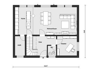 E 20-148.4 - Stadtvilla mit großem Balkon von SchwörerHaus Grundriss 1