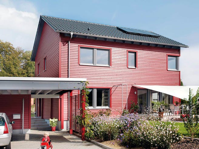E 20-148.6 - Haus in rot von SchwörerHaus Außenansicht 1
