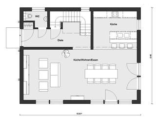 E 20-148.6 - Haus in rot von SchwörerHaus Grundriss 1